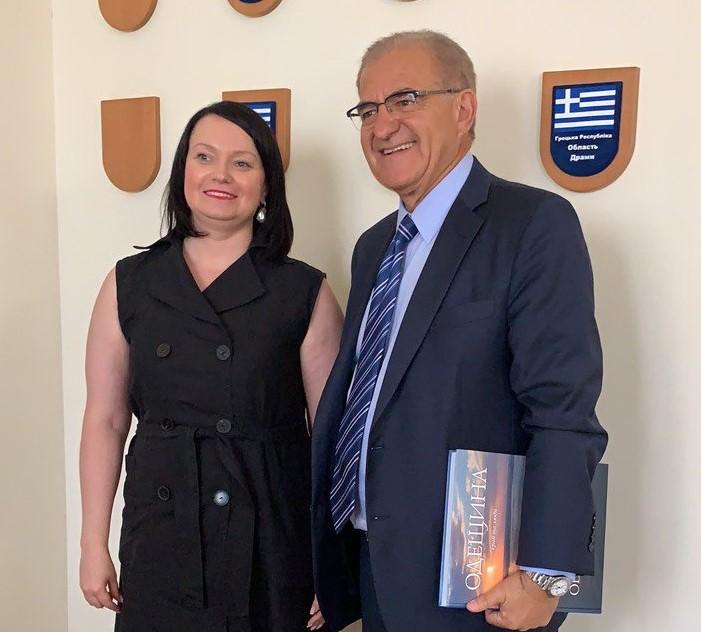 Deputy Foreign Minister Antonis Diamataris and Acting Head of the Odessa Regional State Administration Svetlana Shatalova
